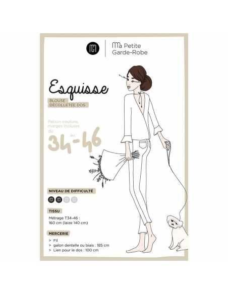Blouse Esquisse (patron pochette)  - 1