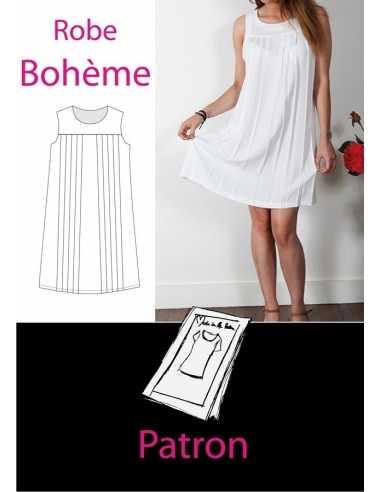 Patron robe bohème Taille 40  - 1