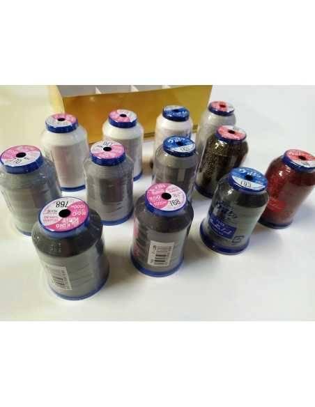 Coffret FUJIX de 12 bobines de fil pour surjeteuse  - 4