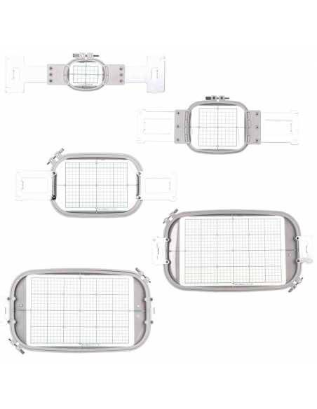 Pack de 5 Grands cadres Embroidery Hoops pour PR Brother BROTHER - 4